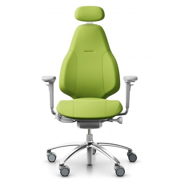 Кресло FLOKK RH MEREO 220 SILVER GREY эргономичное, салатовое