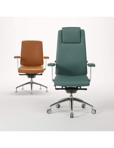 Кресло SITIA BLACK OR WHITE HIGH BACK для руководителя, кожаное
