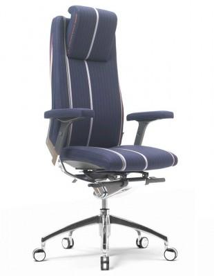 Крісло SITIA BLACK OR WHITE HIGH BACK для керівника, тканинне