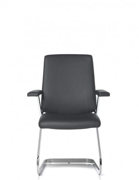 Кресло SITIA BLACK OR WHITE на полозьях, для посетителей