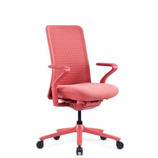 Кресло KRESLALUX POLY ROSE, тканевое, розовое