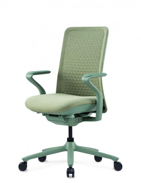 Кресло KRESLALUX POLY NILE GREEN, тканевое, салатовое