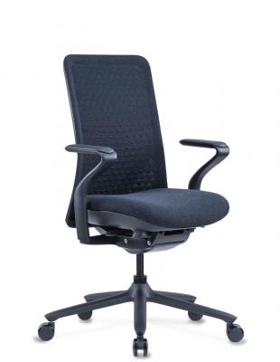 Кресло KRESLALUX POLY PURE BLACK, тканевое