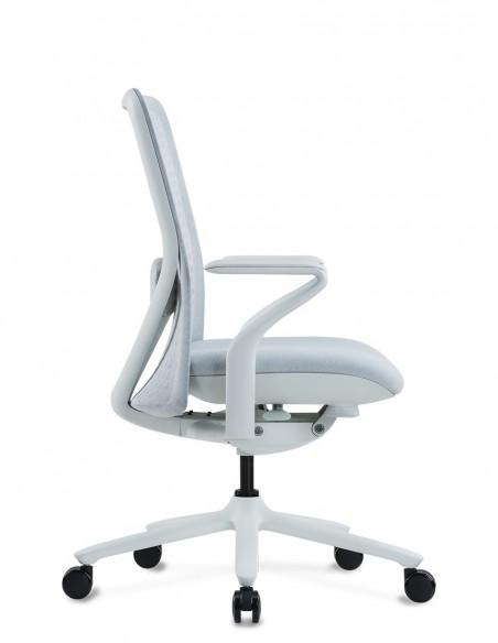 Кресло KRESLALUX POLY ICE WHITE, тканевое