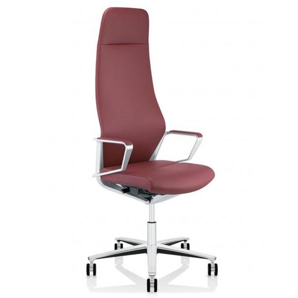 Кресло руководителя ZÜCO SIGNO SG 605, кожаное, красного цвета купить в кабинет директора
