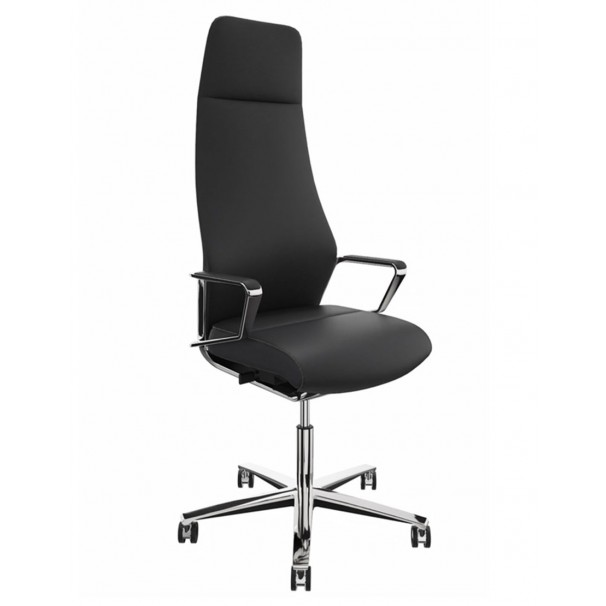 Кресло руководителя ZÜCO SIGNO SG 605, кожаное, цвет midnight black