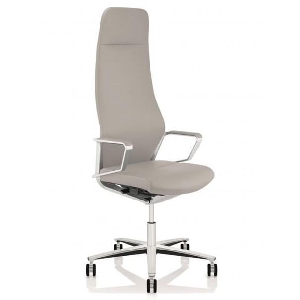 Кресло руководителя ZÜCO SIGNO SG 605, кожаное, platin grey