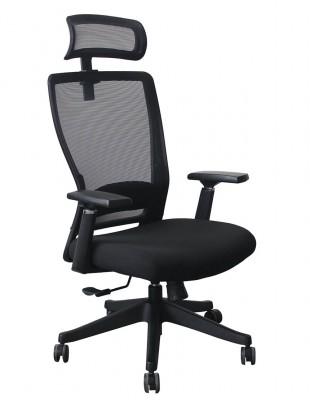 Кресло офисное KRESLALUX OPTI-ON BLACK, для оператора