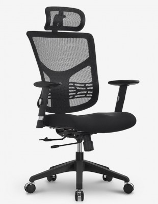 Крісло EXPERT STAR (STE-MF01) для оператора, ергономічне, колір чорний