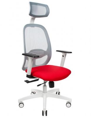 Крісло GROSPOL NODI WS HD для оператора, червоний колір