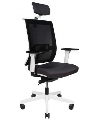 Крісло GROSPOL LEVEL WS HD WHITE ергономічне, колір чорний