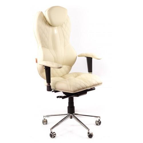 Кресло для руководителя, ортопедическое Kulik System Grande песочное