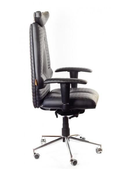 Кресло для руководителя, ортопедическое Kulik-System JET черное