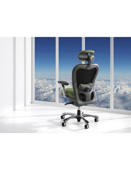 Кресло для руководителя NINGHTINGALE CXO 6200 D зеленое