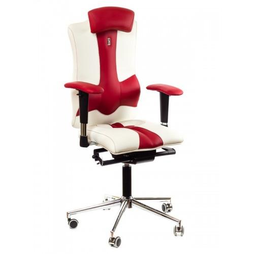 Кресло для оператора, ортопедическое Kulik System Elegance бело-красное