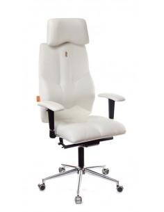 Кресло для руководителя, ортопедическое Kulik-System Business белое