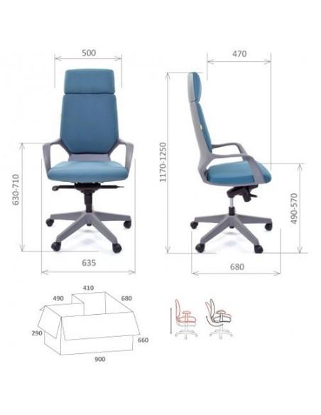 Кресло CHAIRMAN 230 grey для руководителя