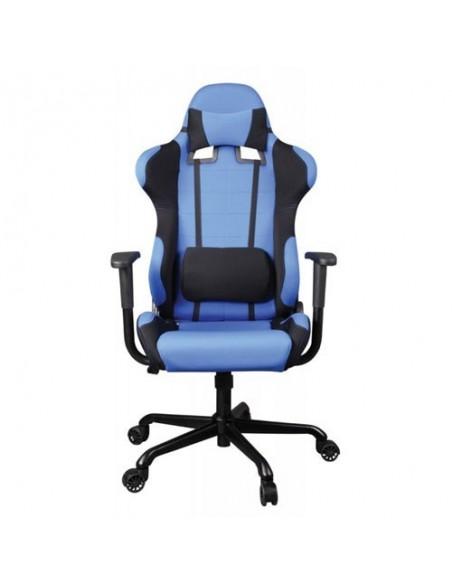Кресло Бюрократ 771/BLUE+BL для руководителя, синий/черный