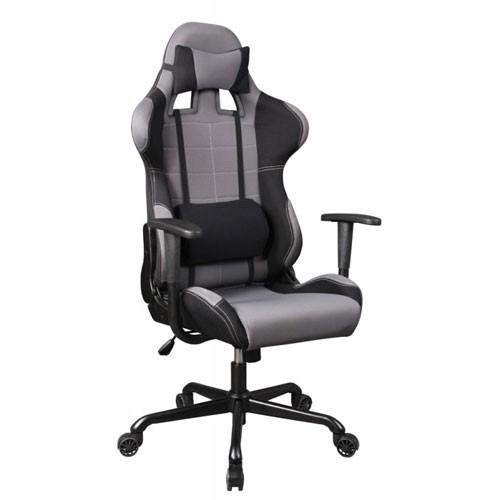 Кресло Бюрократ 771/GREY+BL для руководителя, серый/черный