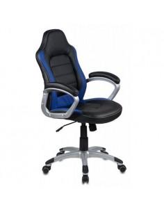 Кресло Бюрократ CH-825S/BLACK+BL для руководителя, черный/синий