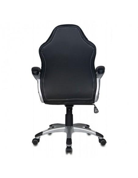 Кресло Бюрократ CH-825S/BLACK+GR для руководителя, черный/серый