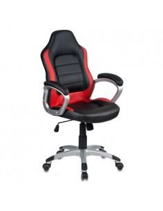 Кресло Бюрократ CH-825S/BLACK+RD для руководителя, черный/красный