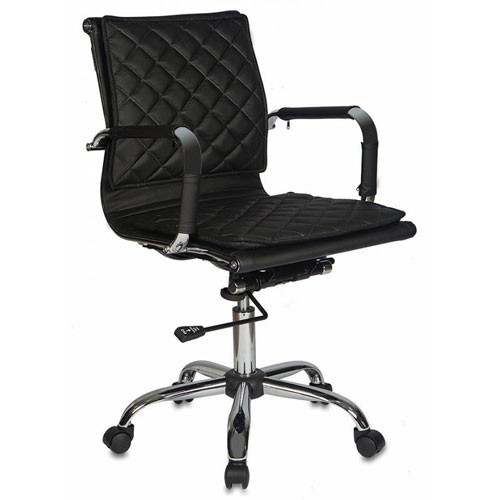 Кресло Бюрократ CH-991-LOW/BLACK для руководителя, цвет черный