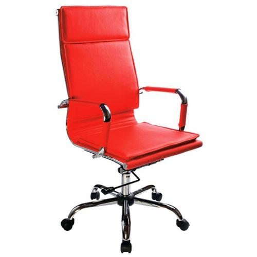 Кресло Бюрократ CH-993/RED для руководителя, цвет красный