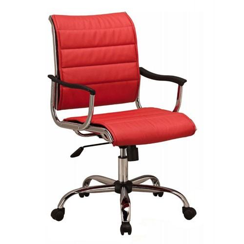 Кресло Бюрократ CH-994AXSN/RED для руководителя, цвет красный