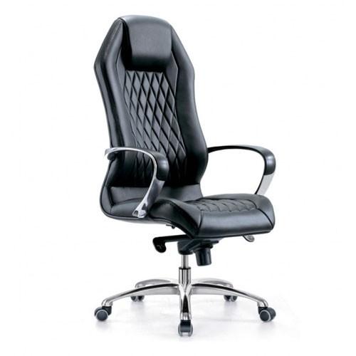 Кресло Бюрократ _Aura/BLACK для руководителя, цвет черный
