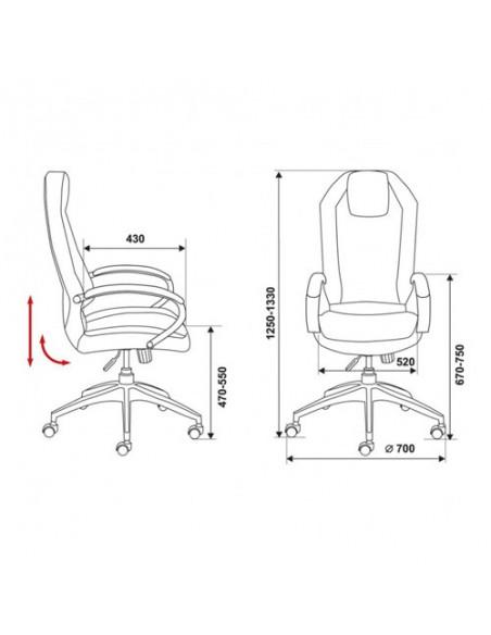 Кресло Бюрократ _Aura/BROWN для руководителя, цвет коричневый