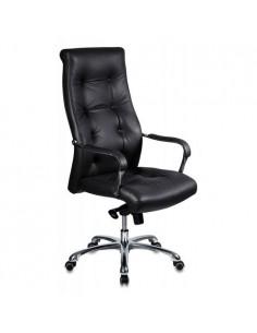 Кресло Бюрократ _Boss/BLACK для руководителя, цвет черный