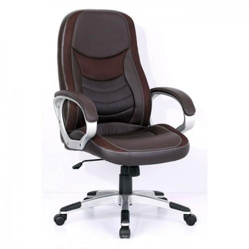 Кресло Бюрократ T-9910/BROWN для руководителя, цвет коричневый