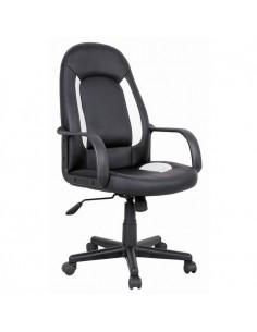 Кресло Бюрократ CH-826/B+WH для руководителя, цвет черный/белый