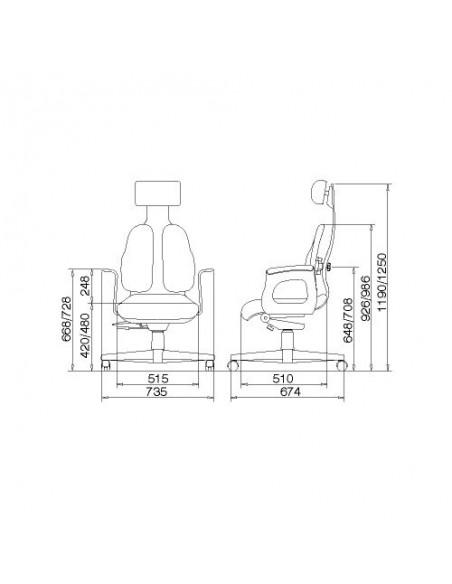 Кресло DUOREST Cabinet DR-120 для руководителя, ортопедическое