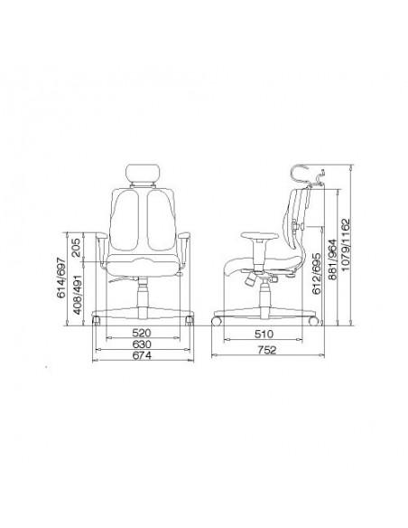Кресло DUOREST Cabinet DR-150A для руководителя, ортопедическое