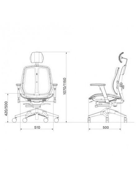 Кресло DUOREST Alpha A80H для руководителя, ортопедическое, цвет зеленый