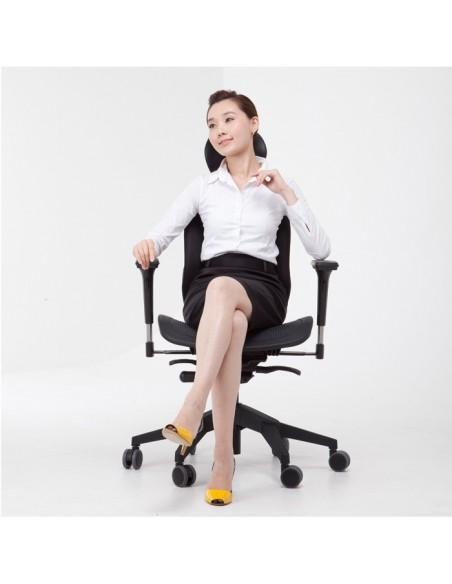 Кресло DUOREST Alpha A60H для руководителя, ортопедическое, цвет черный