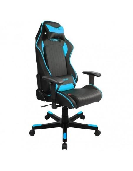 Кресло DXRacer OH/DF51/NB черного цвета с синими вставками