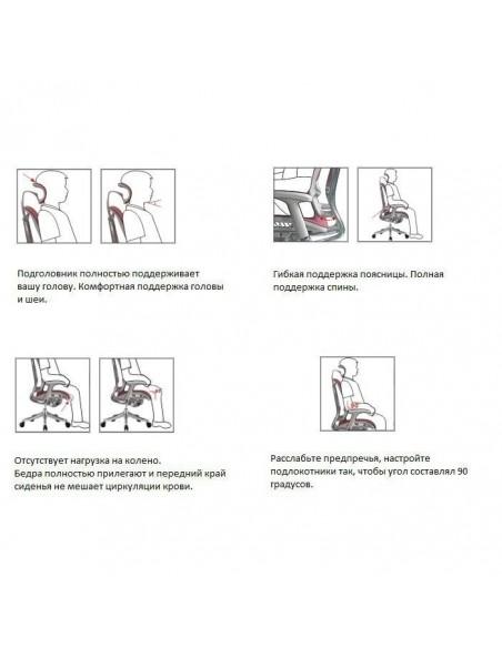Кресло DUOREST Expert Spring (SP-01G) для руководителя, эргономичное, цвет серый.