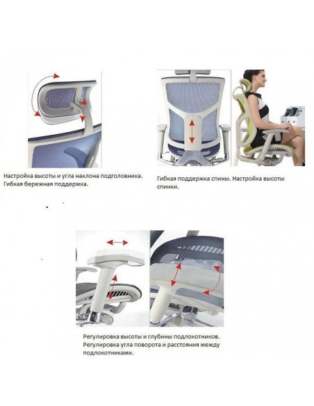 Кресло DUOREST Expert Star (ST-01G) для руководителя, эргономичное, цвет серый