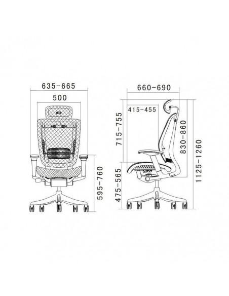 Кресло DUOREST Expert Spring (SP-01) для руководителя, эргономичное, цвет черный