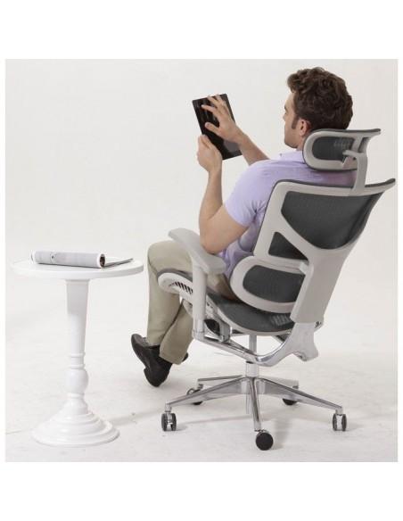Кресло DUOREST Expert Sail (SL-01G) для руководителя, эргономичное, цвет серый