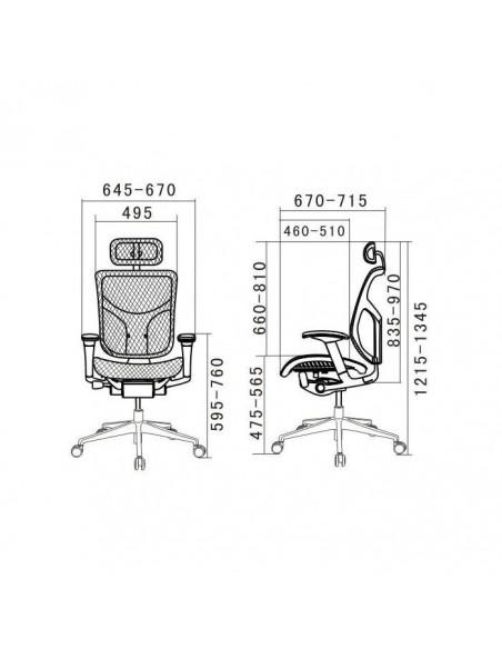 Кресло DUOREST Expert Star (ST-01) для руководителя, эргономичное, цвет черный
