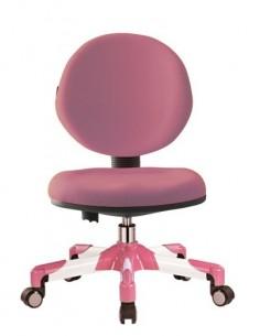 Кресло Mealux  Y-120 KP металл белый / обивка розовая однотонная