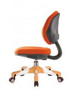 Кресло Mealux Y-120 KY металл белый / обивка оранжевая однотонная