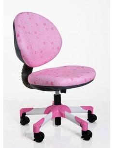Кресло Mealux Y-120 PS металл белый / обивка розовая в квадратики
