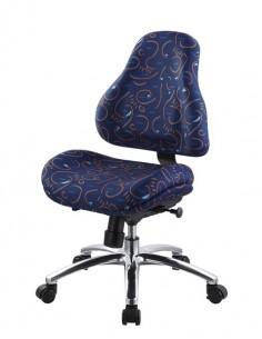 Кресло Mealux Y-128 B обивка синяя с рисунком