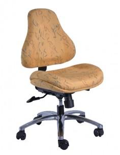 Кресло Y-128 DY обивка желтая с рисунком