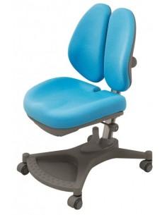 Кресло Mealux Y-132 BL серебристый металл / обивка голубая однотонная